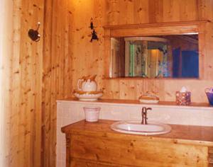 Agencement intérieur salle de bains bois
