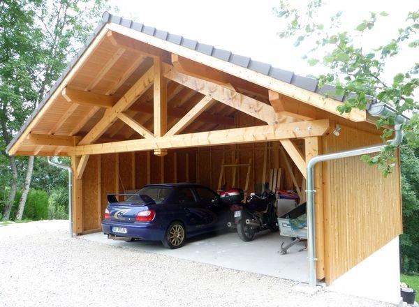 Charpente zinguerie abri voiture bois